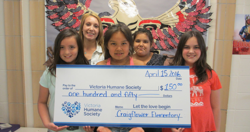 Donation made to the Victoria Humane Society – $150