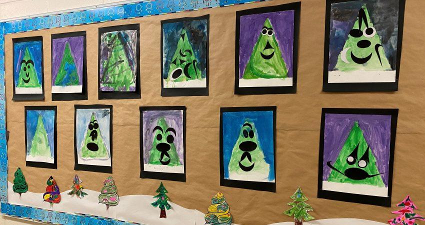 Holiday artwork by Division 8 – Mrs. Koscik